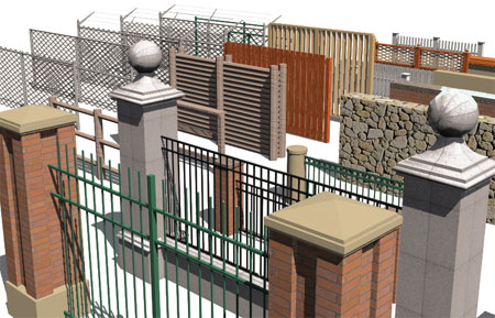 The majority of fences in this kit are based on AutoCAD Architectureu0027s Railing Styles but we also have numerous fences based on Curtain Wall Styles. & ACA 2010 - Fences - Overview